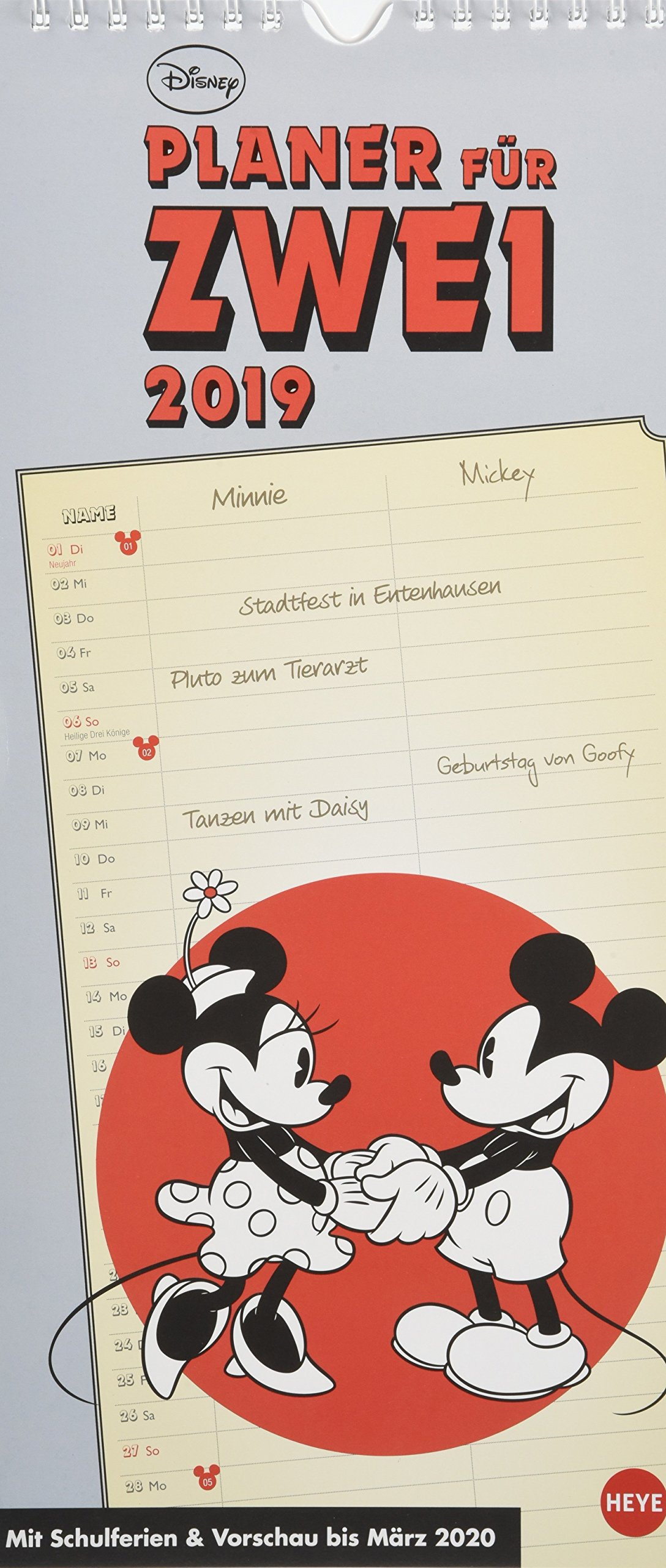 Mickey Mouse & Minnie Planer für zwei - Kalender 2019