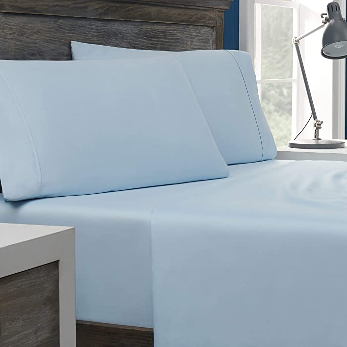 Columbia Organic Cotton Sateen Weave Performance Pillowcases – 300TC with Omni-Wick Moisture Wicking Stay Dry Technology - 100% GOTS Certified Organic Cotton – King Pillowcases - 2PK, Blue