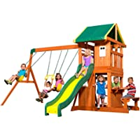 Backyard Discovery 65114 Oakmont All Cedar Playset Swing Set