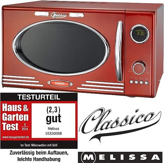 Melissa 16330088 Horno Microondas color Rojo 25 litros - 900W ...