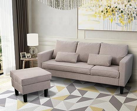 Leisure zone® tessuto divano letto divano ad angolo - divani letto ...