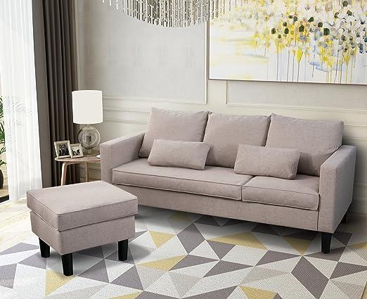 Leisure Zone - Sofá de esquina de tela para cama - sofá cama ...
