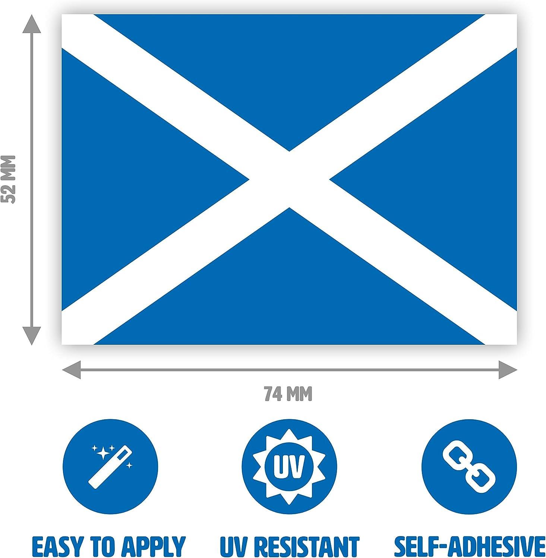 Junk Mail Blocker 4 x Scottish Flag Sticker Set 7.4 x 5.2 cm Luggage Saltire Cross Laptop Scotland Sticker Windows for Cars