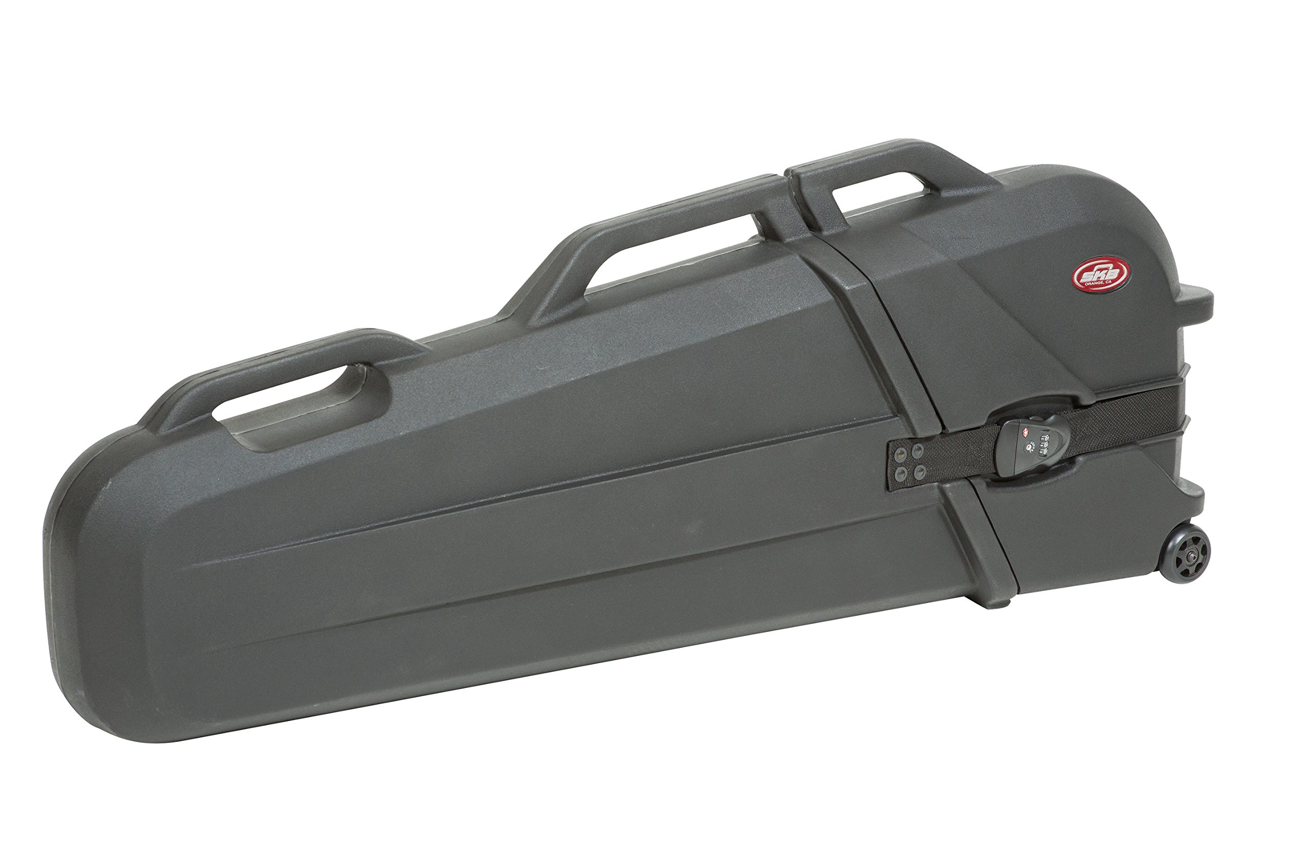 SKB ATA Rated, Electric Bass Safe with Wheels (Hard Clamshell Design for Use with GigBag)