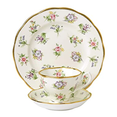 Royal Albert 3 Piece 100 Years 1920 Teacup, Saucer & Plate Set, 8 , Multicolor