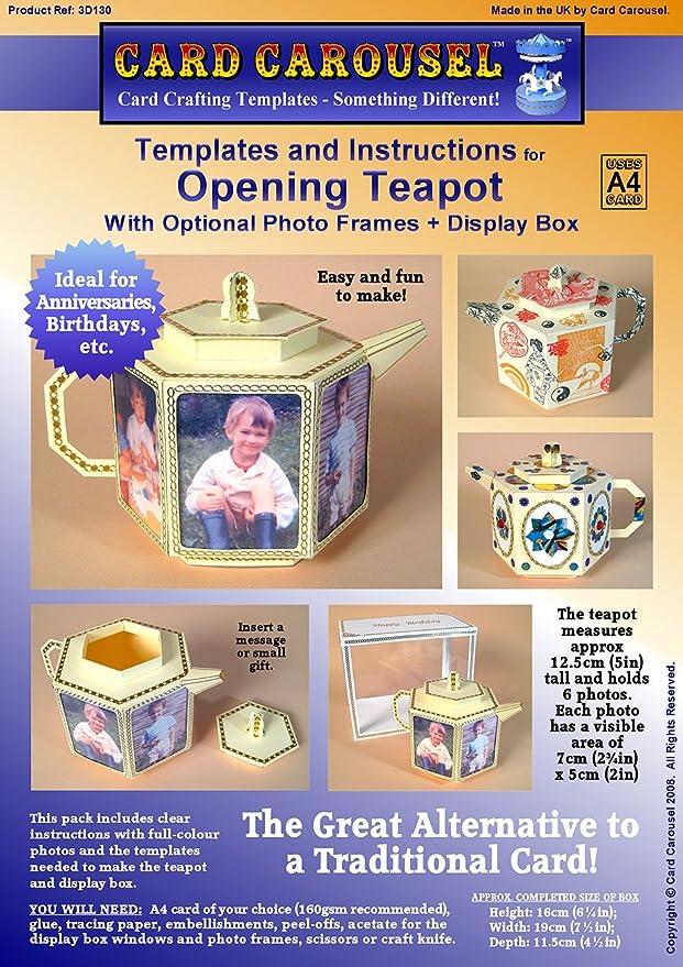 Karte machen Vorlagen für 3D Teekanne mit Bilderrahmen & Display Box ...