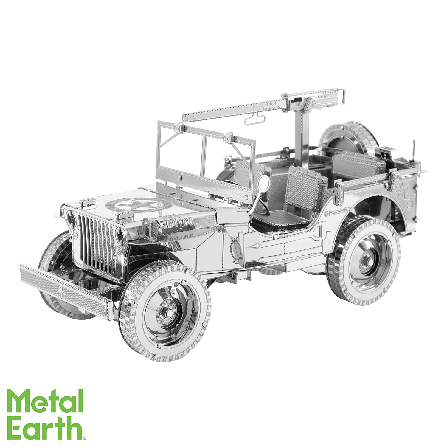 Fascinations Iconx Willys Mb Jeep 3d Metal Model Kit 50off Spy Jet Escape 8638
