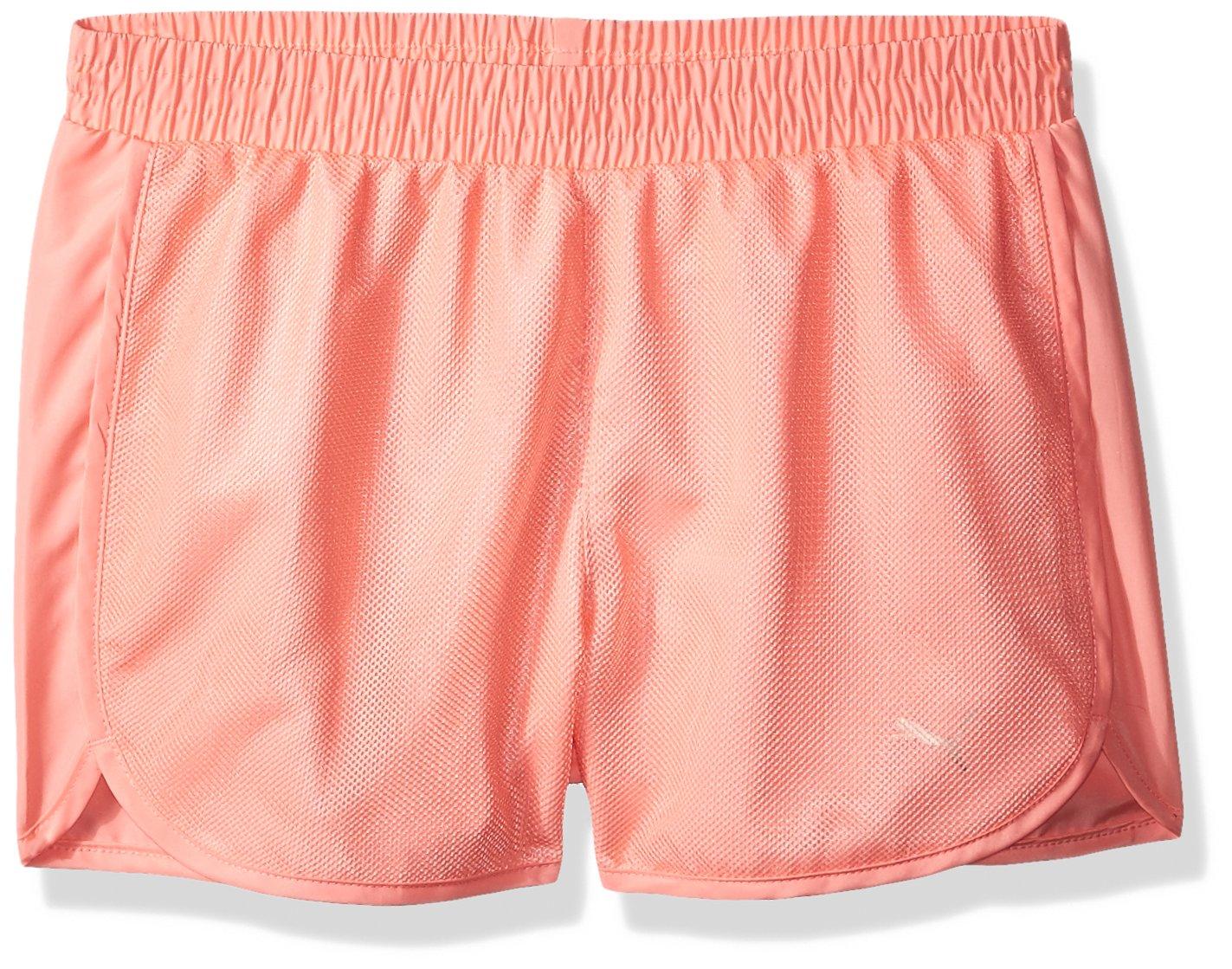 PUMA Girls' Mesh Overlay Shorts