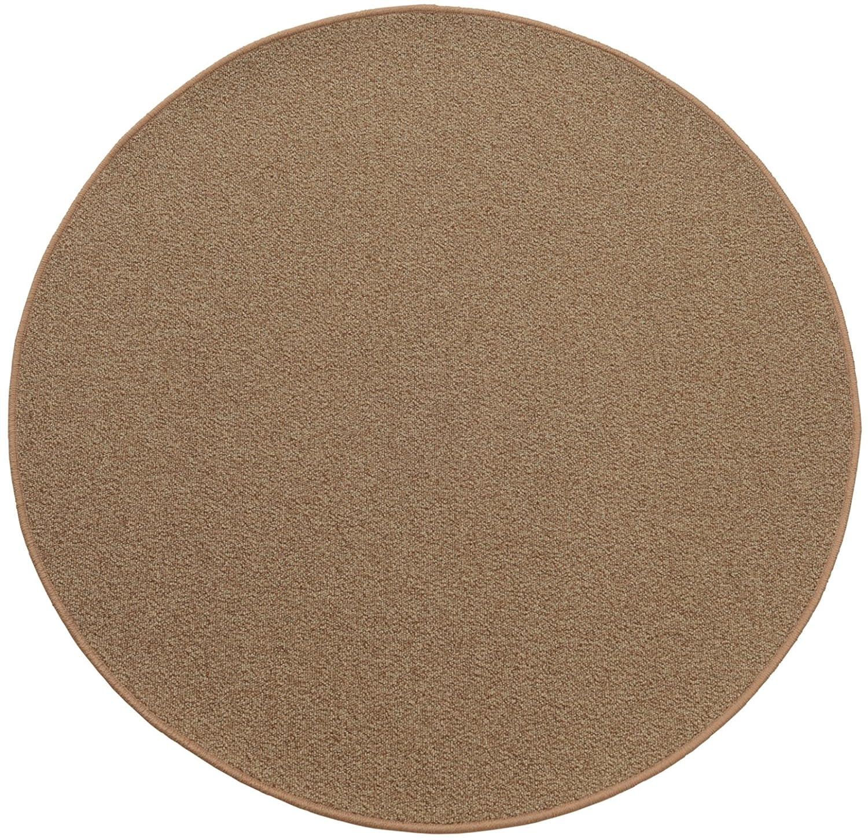 円形ラグ 撥水 滑り止め付 径180cm コルクブラウン B06XQXVFJ8 径180cm,04.コルクブラウン