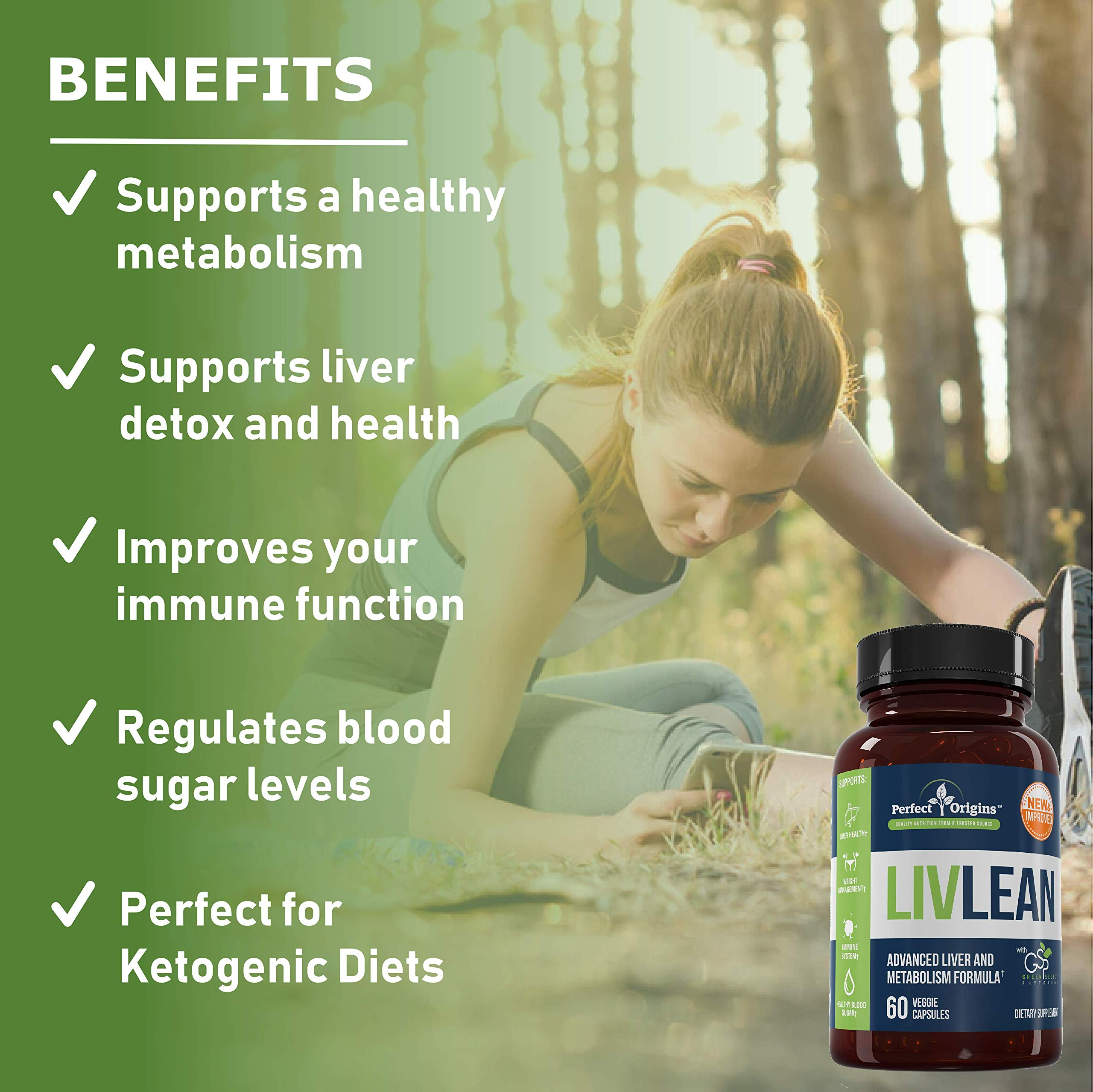 Perfect Origins LivLean, Liver Cleanse Health and Detox Support Supplement by Perfect Origins