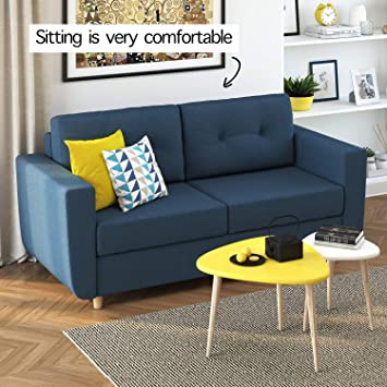 Amazon.com: Scandinavian Mid-Century Pull Out Queen Sofa Bed ...