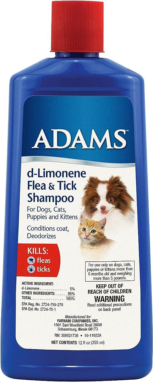 Adams d-Limonene Flea & Tick Champú para Gatos y Perros, 12 oz (descontinuado por el Fabricante): Amazon.es: Productos para mascotas