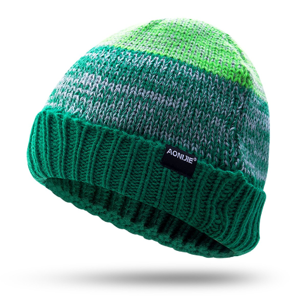 cbad498249d63 Azarxis Winter Beanie Hat Warm Knit Slouchy Hat Unisex Ski Skull Cap (Olive  Green - Flanging)
