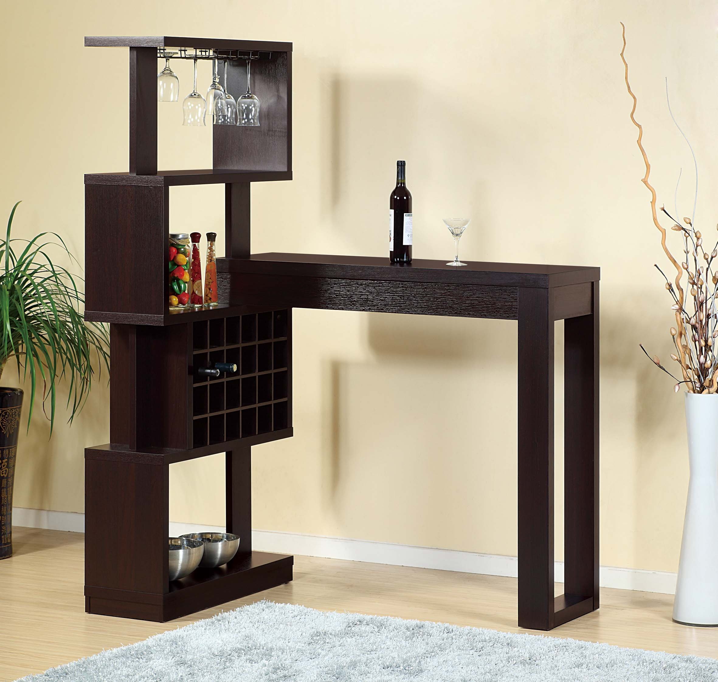 14902 Smart Home Furniture Red Cocoa Fine Dining Wine Bar Table