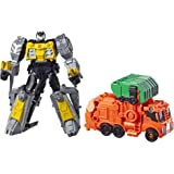 """TRANSFORMERS Cyberverse Power of the Spark - Grimlock Convertible 4"""" Action Figure - Trash Crash Spark Armor - Kids Toys - Ages 6+"""