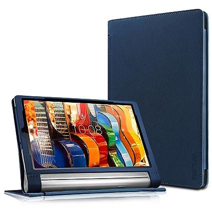 size 40 f32e8 0c8ce Lenovo Yoga Tab 3 Plus/Lenovo Yoga Tab 3 Pro 10 Case - Infiland Folio  Premium PU Leather Stand Cover Fit for Lenovo Yoga Tab 3 Plus 10.1/ Lenovo  Yoga ...