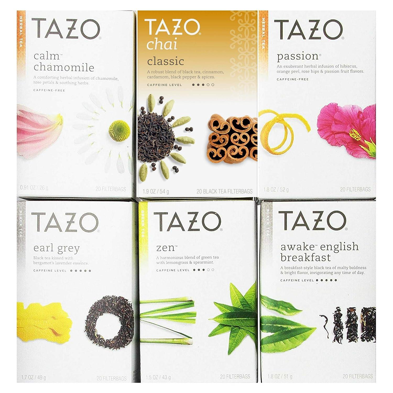 Tazo Assorted Tea Sampler 20ct (Pack of 6) TRTAZ11A