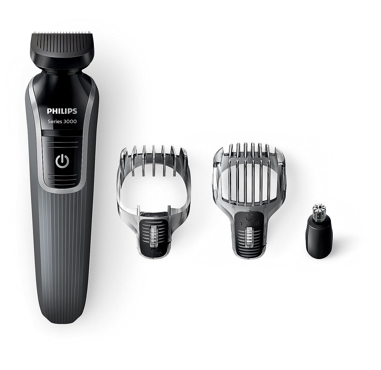 Philips Series 3000 4-in-1 Waterproof Mens Grooming Kit (Beard/Stubble Trimmer/Hair Clipper)
