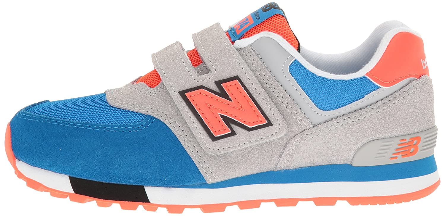 New Balance 574 Borrelås Trener Blå / Orange 6Mdmg5UF