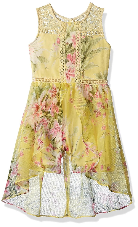 50c88dc0d8a2 Amazon.com  Amy Byer Girls  Big High-Low Walk Through Romper Dress  Clothing