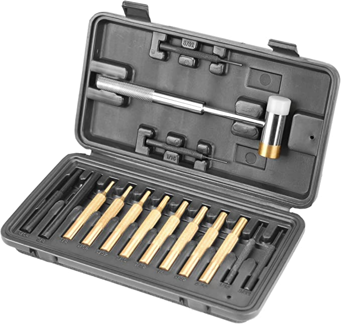 Wheeler Engineering Hammer and Punch Set with Brass Steel Plastic Punches BrassPolymer Hammer and Storage Case for Gunsmithing Maintenance at Kapruka Online for specialGifts
