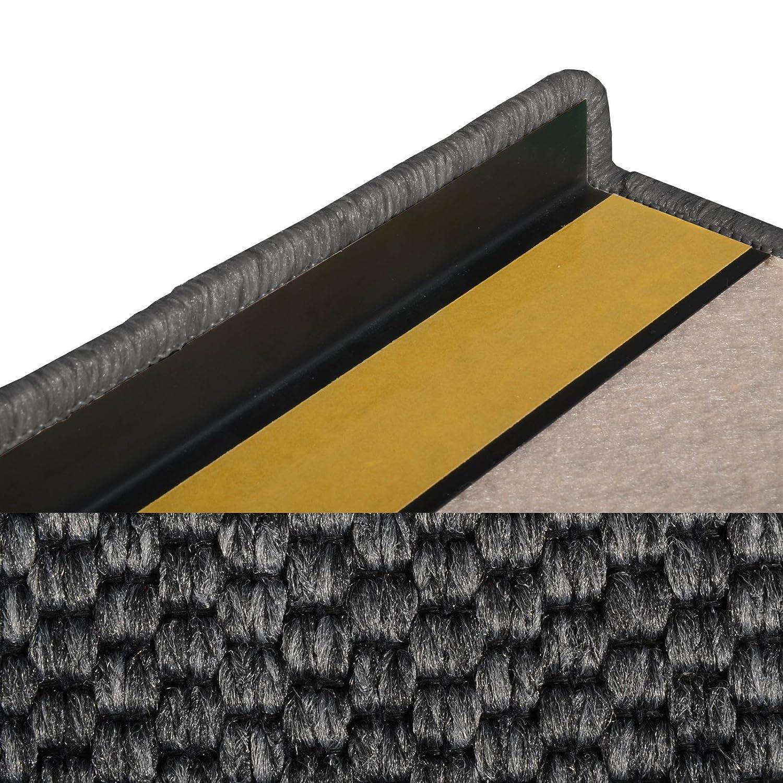 Casa pura Teppich Läufer in in in Sisal Optik   Flachgewebe mit Tiger-Eye-Struktur   Ausgezeichnet mit Gut-Siegel   Kombinierbar mit Stufenmatten (Anthrazit, 160x350 cm) 8ffc0f