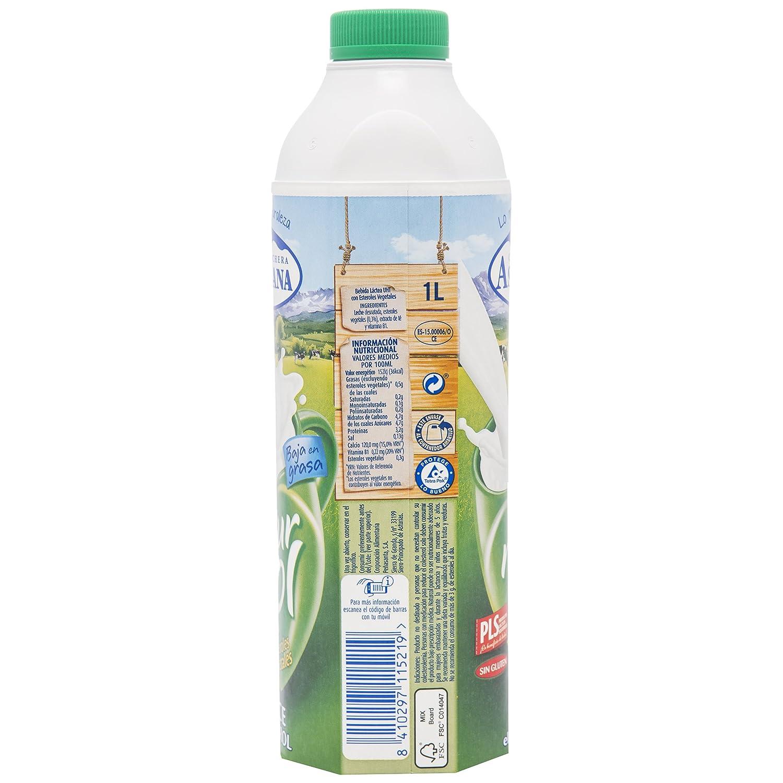 Central Lechera Asturiana Leche Naturcol - Paquete de 6 x 1000 ml - Total: 6000 ml: Amazon.es: Alimentación y bebidas