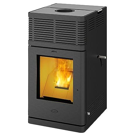 Fireplace k2052 C gravio Pellet Horno Negro/A +