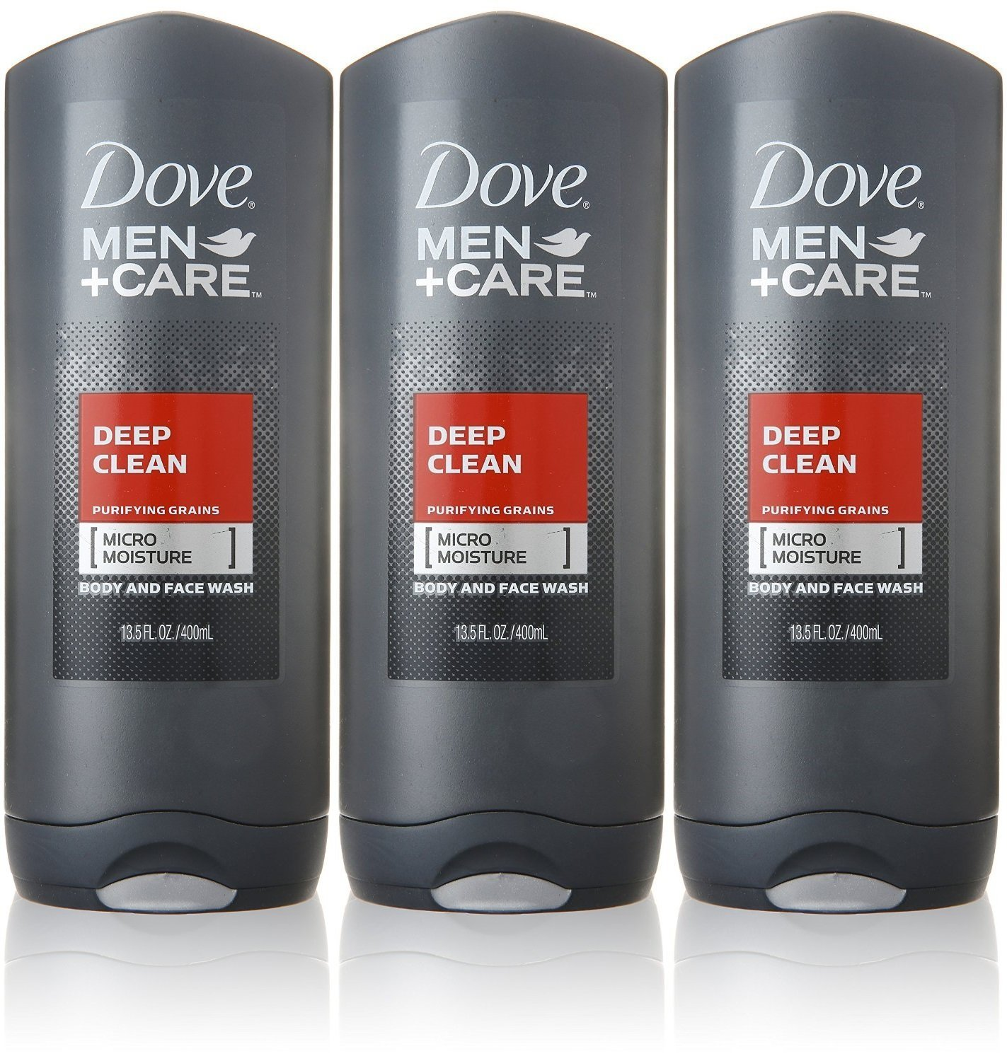 Amazon Com Dove Men Care Body And Face Wash Deep Clean 13 5 Ounce Pack Of 3 Industrial Scientific