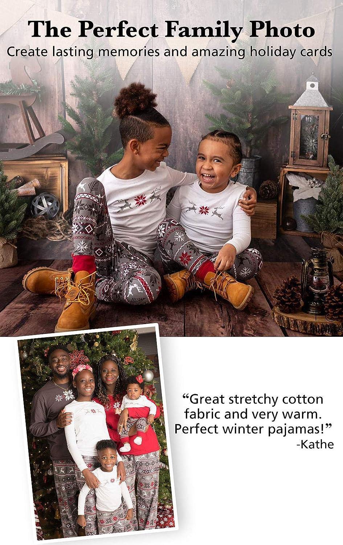 PajamaGram Family Christmas Pajamas Set - Soft Cotton Family Pajamas, Gray: Clothing
