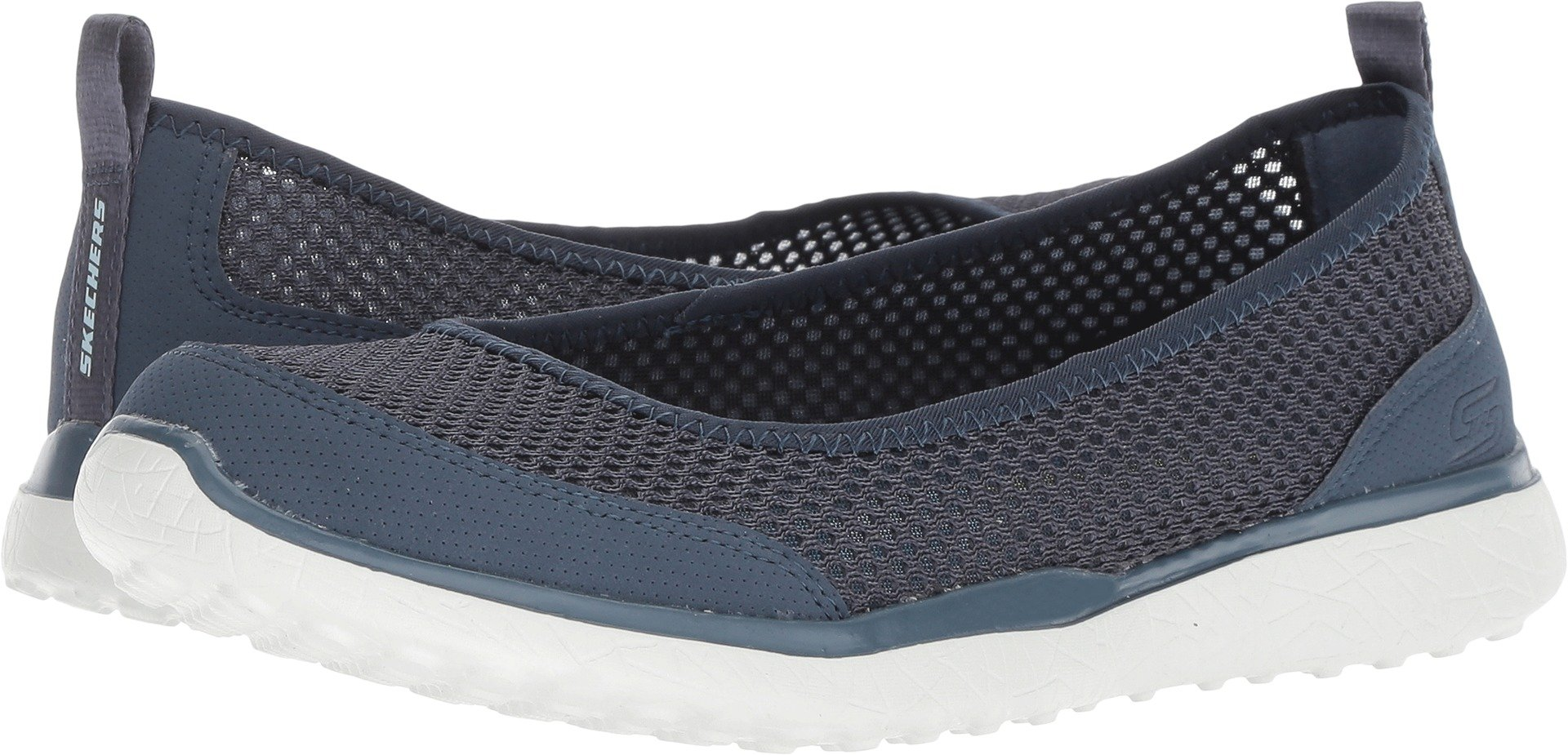 Skechers Microburst Sudden Look Womens Slip On Skimmer Sneakers Slate 10