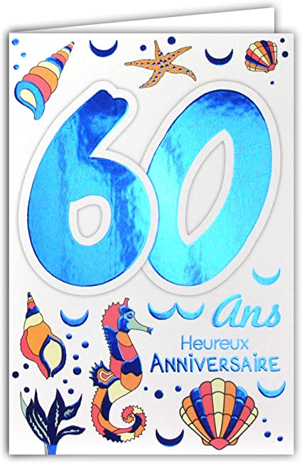 carte anniversaire homme 60 ans Amazon.com: 69 2037 Birthday Card 60 Years Old Men and Women – Sea