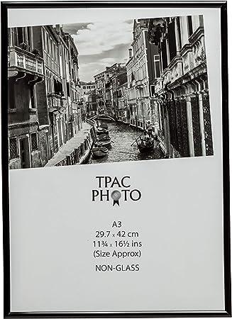cadre photo Lot de 4 ATOBART Cadre photo A3 Noir 29,7 x 42 cm Cadre de certificat en bois massif cadre photo suspendu cadre photo