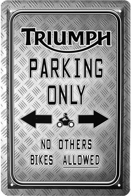 Triumph Parking Only Moto Bike Cartel de chapa 20 x 30 Retro Chapa 1715