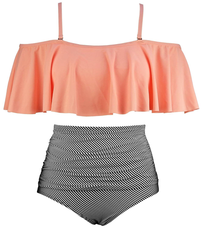 COCOSHIP SWIMWEAR レディース B07CVQQLGG 6|オレンジ ピンク