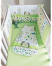 Vertbaudet Tour de lit bébé brodé PIC-NIC Multicolore 180X40