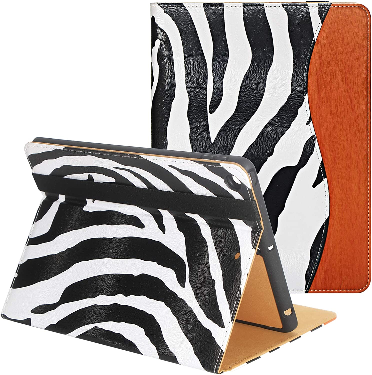 CASIRENA Zebra case for ipad 10.2 (8th/7th Gen), iPad 10.2 Inch Cover for iPad 8/7 Generation(2020/2019), with Built-in Pencil Holder&Smart Stand, Fully Covered Protect Corners, Auto Wake/Sleep