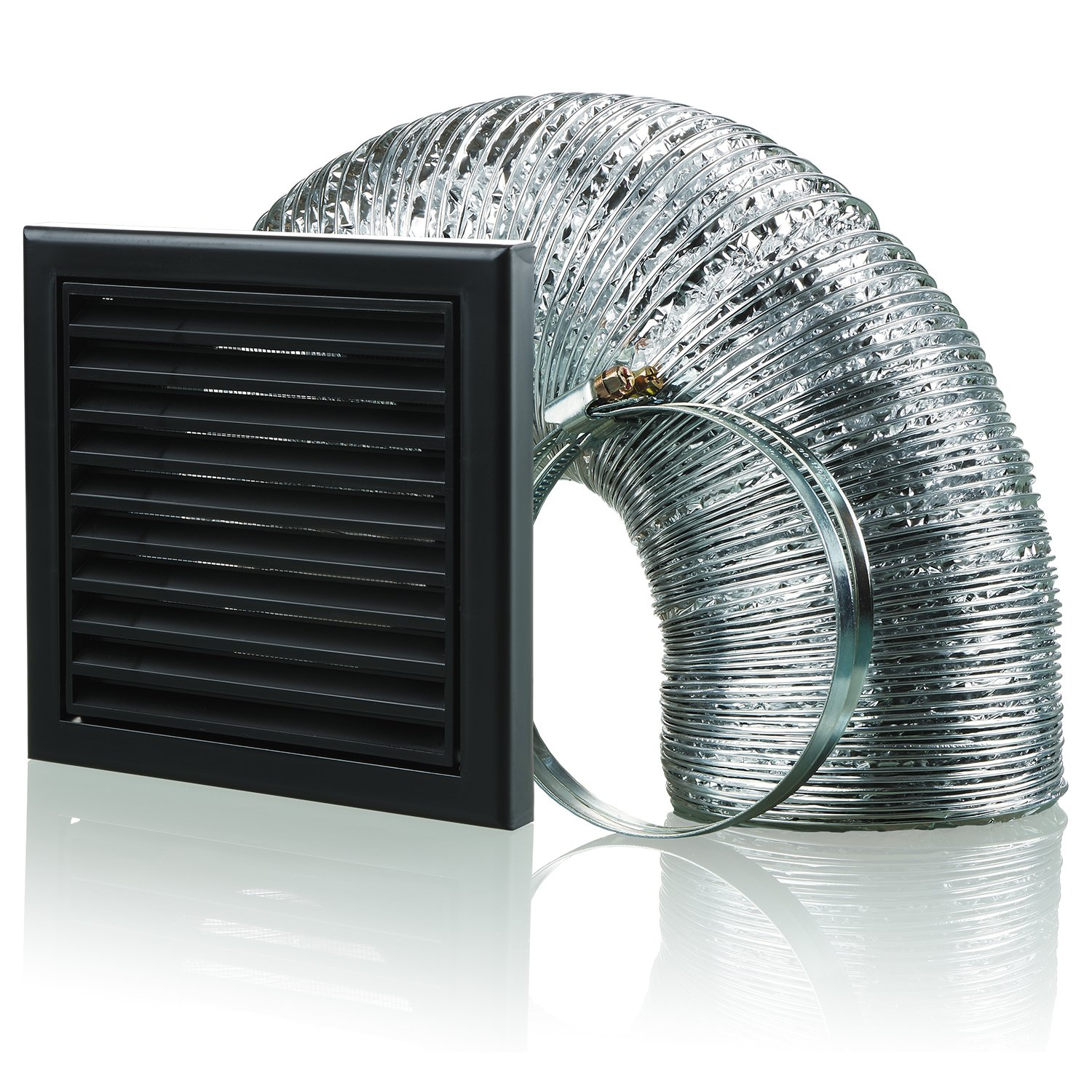Blauberg UK BB-CHK-150-3-VSBL Cooker Hood Duct Vent Kit Fan Extract 150mm Black, 150 mm, Set of 4 Pieces