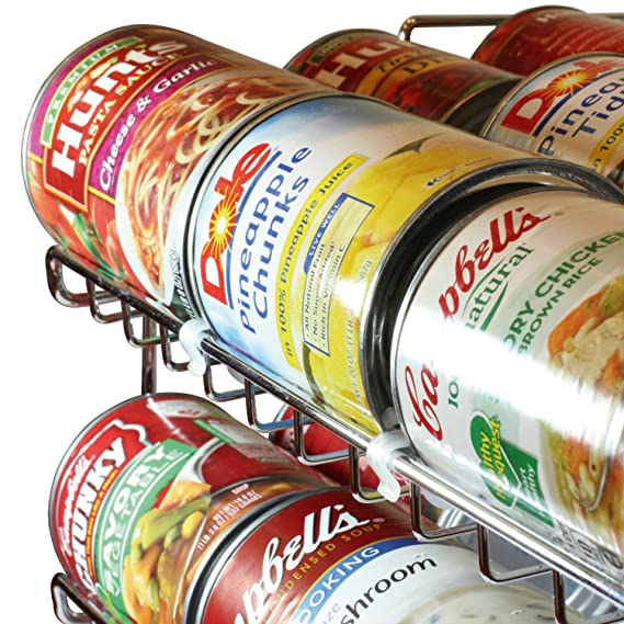 Organizador apilable Taylor & Brown® de 3 niveles para latas, capacidad para 36 latas: excelente para la repisa de la despensa, el armario de la cocina o la ...