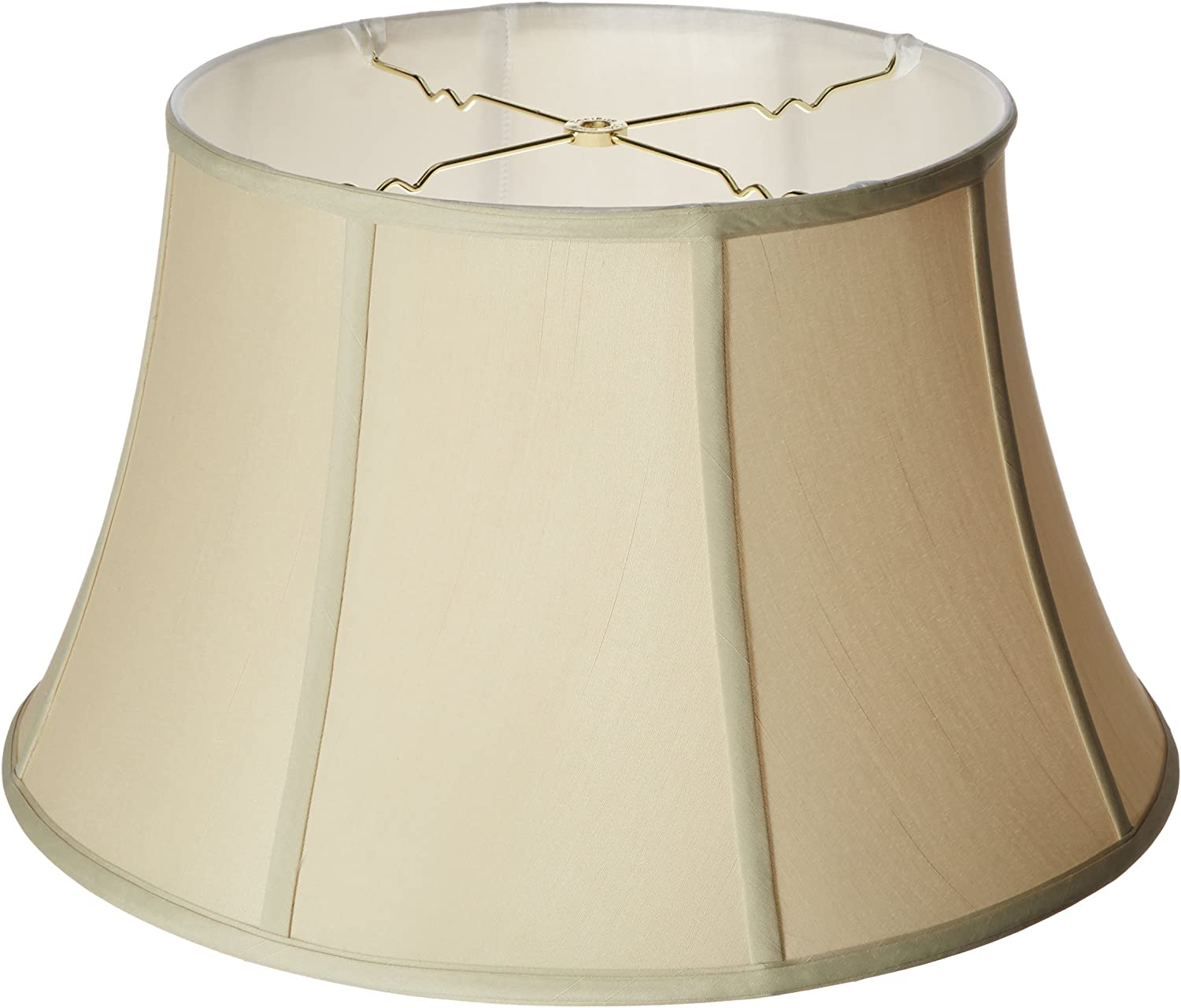 Royal Designs Shallow Drum Bell Billiotte Lamp Shade White 13 x 19 x 11.26 Inc BSO-711-19WH