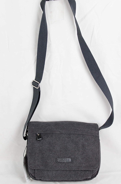 gris Katana petit sac besace toile garni cuir r/éf 6514