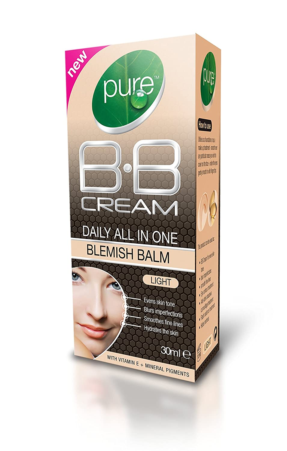 Pure BB Cream Daily all in one Blemish Balm Light 30ml Sublyme Cosmetics Ltd M1135