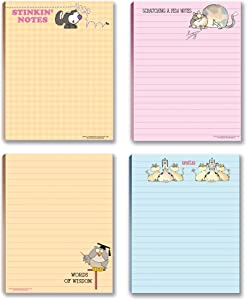 Funny Assorted Notepads - 4 Novelty Notepads - Funny Office Supplies - Small Gift (Funny #4)
