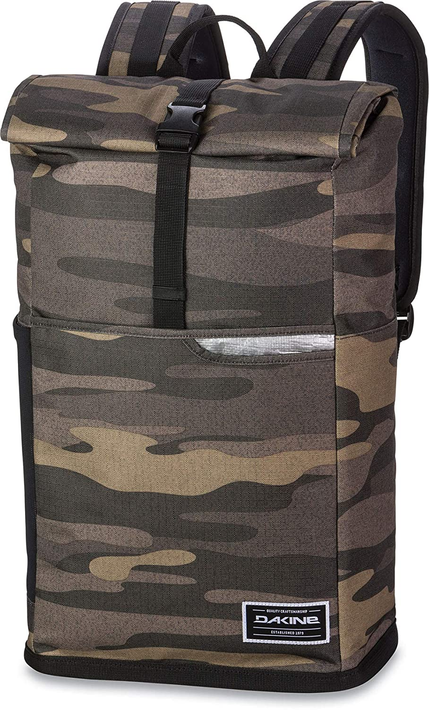 Waterproof Sprayproof DAKINE Section Roll Top Wet Dry 28L Backpack Rucksack Bag Field Camo Tarp lined surf wax pocket