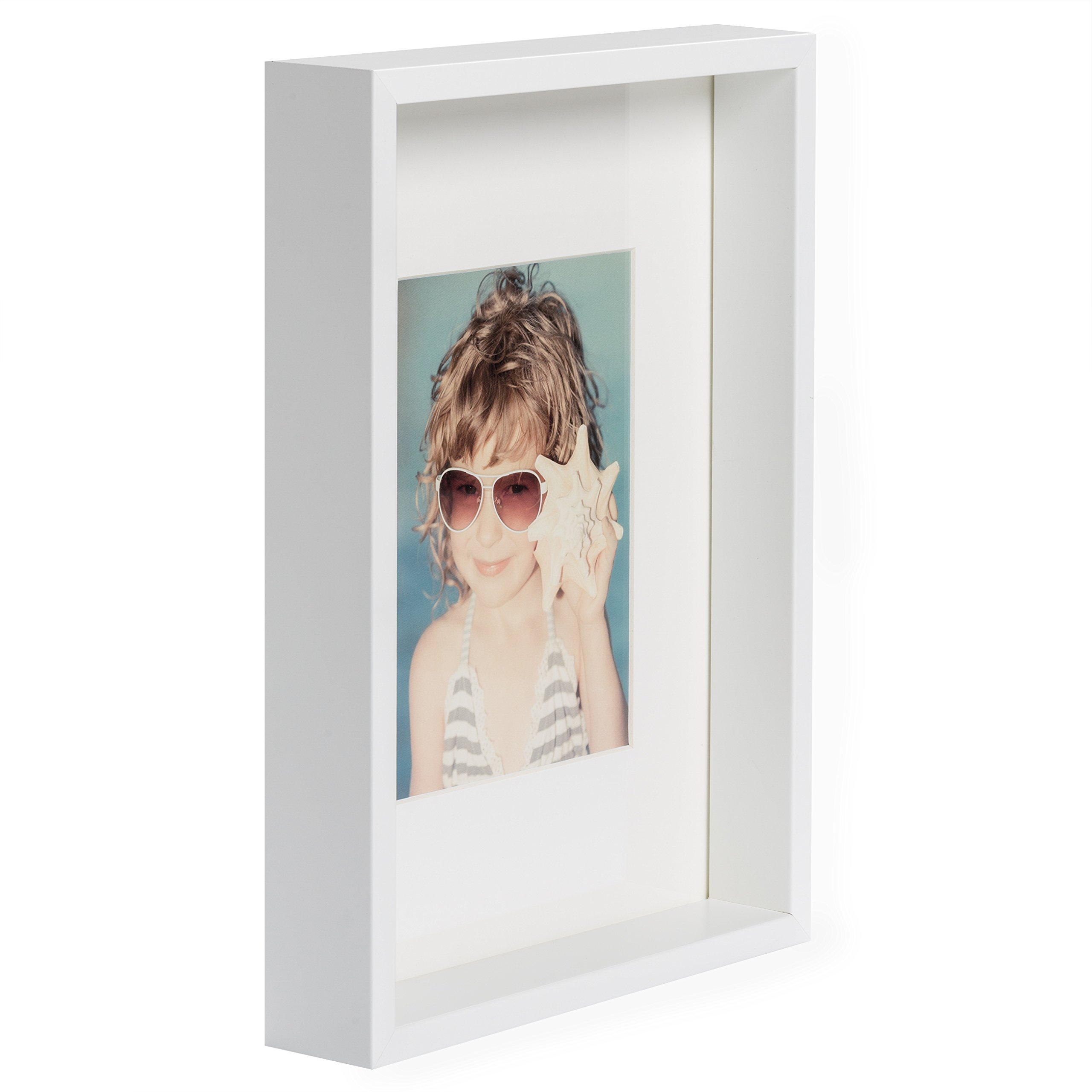 BD ART A4 White Box Picture Frame - Hanging and Standing Display by BD ART