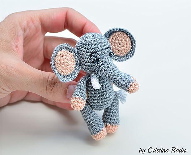 Juguete de peluche de elefante, animal de peluche, orejas Flappy de bebé, amigurumi