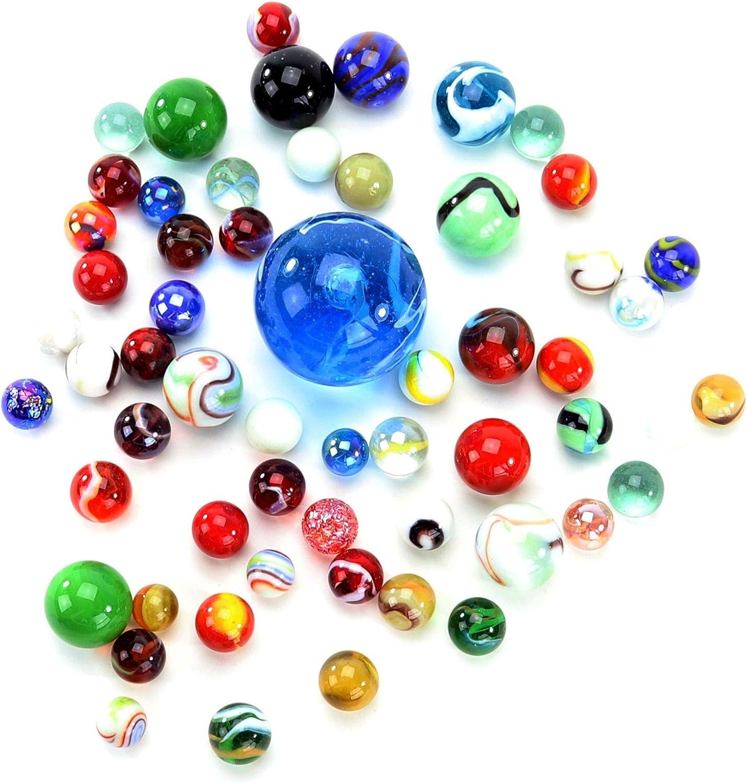 PhiLuMo Canicas de cristal multicolor (500 g)