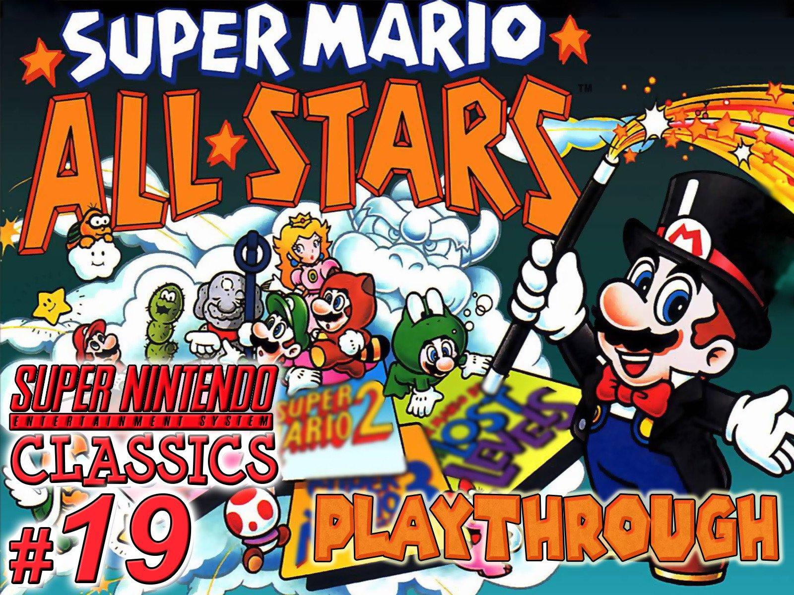Amazon Com Clip Super Mario Allstars Playthrough Snes
