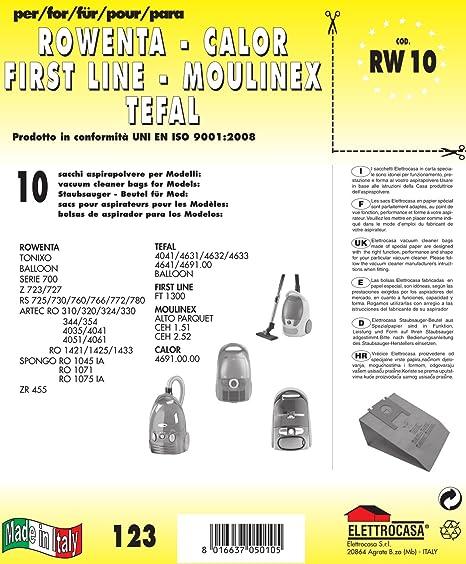 10 Staubsaugerbeutel für Calor Balloon 1300