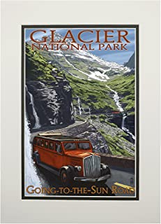 product image for Glacier National Park, Montana - Going-To-The-Sun Road (11x14 Double-Matted Art Print, Wall Decor Ready to Frame)